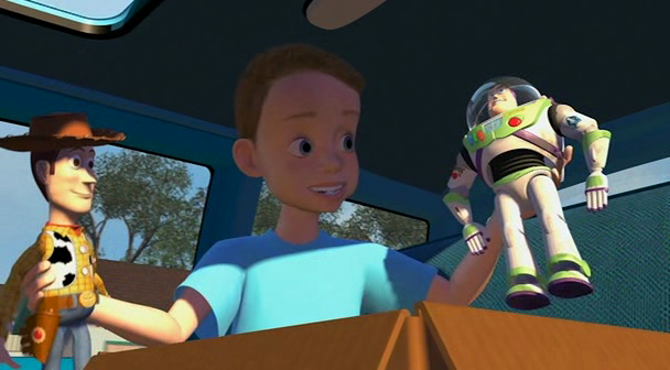 Toy Story Andy, Woody and Buzz