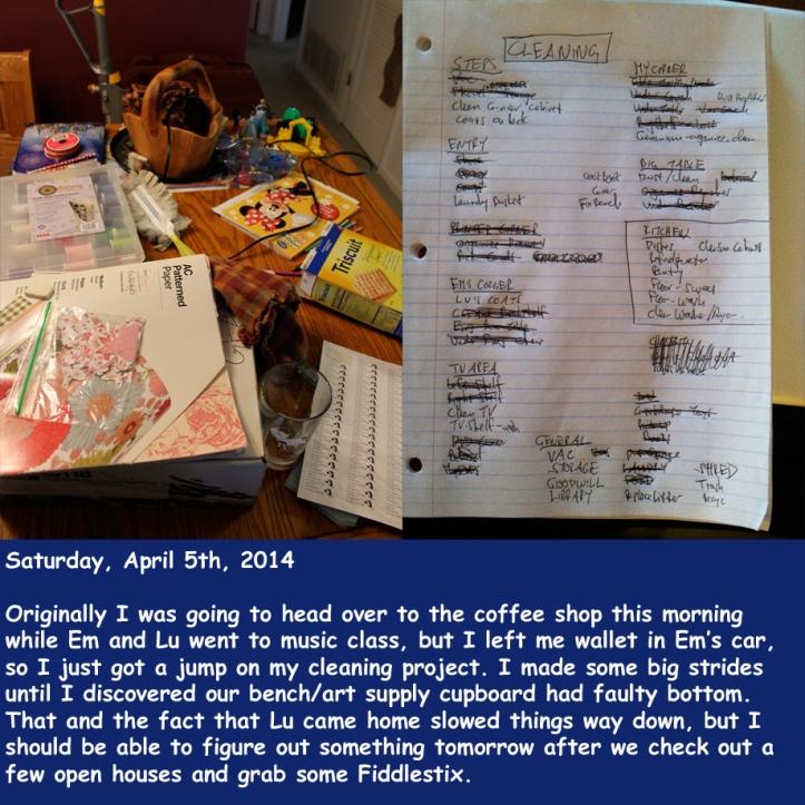 Saturday, April 5th, 2014