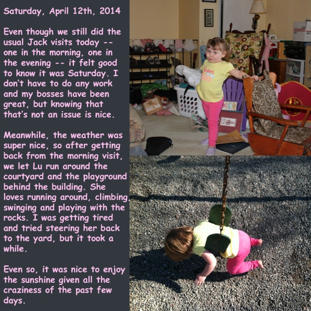 Saturday, April 12th, 2014