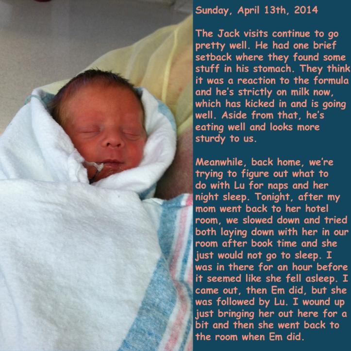 Sunday, April 13th, 2014