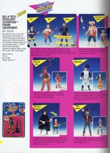 bill and ted toy catalog page