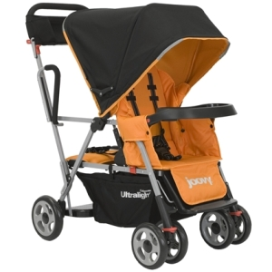 joovy ultralight caboose stroller orange