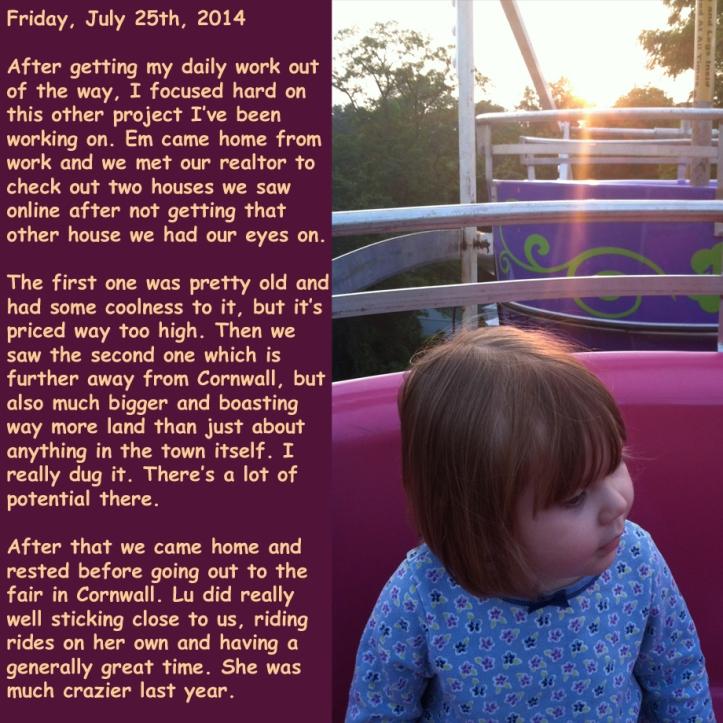 Friday, July 25th, 2014
