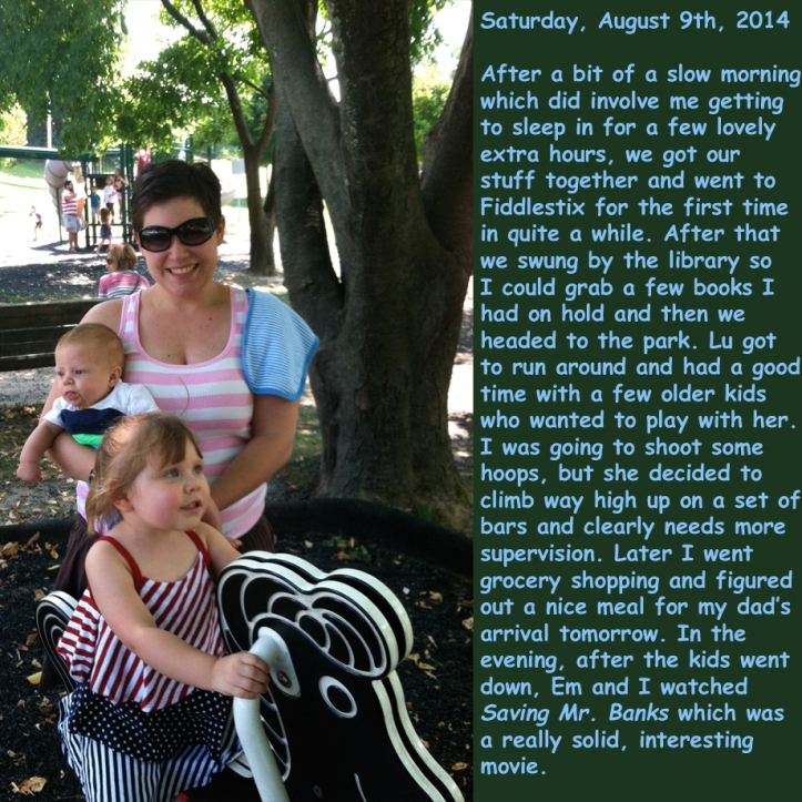 Saturday, August 9th, 2014