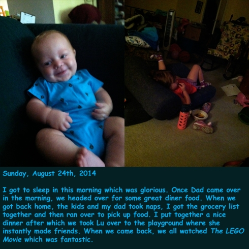 Sunday, August 24th, 2014
