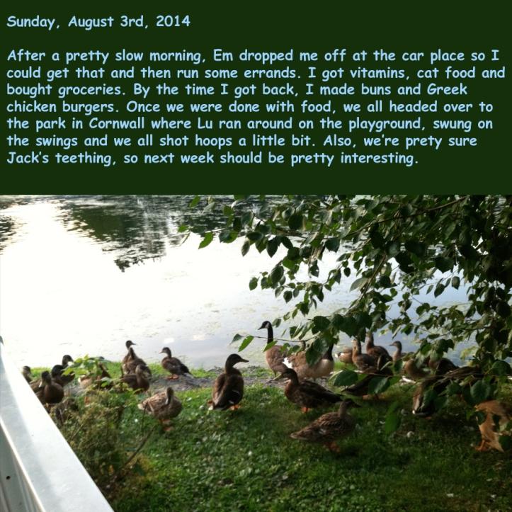 Sunday, August 3rd, 2014