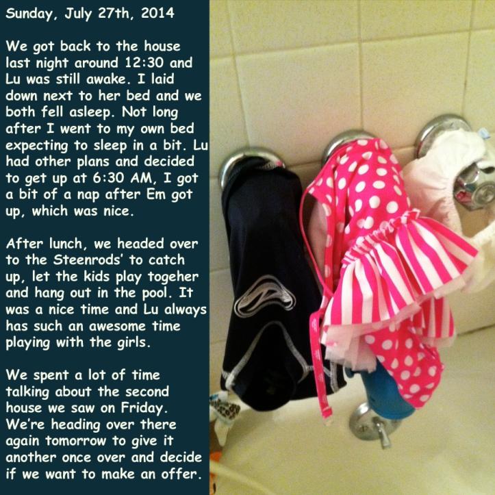 Sunday, July 27th, 2014
