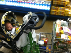grocery store baby train