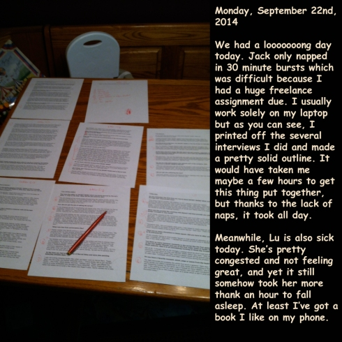 Monday, September 22nd, 2014