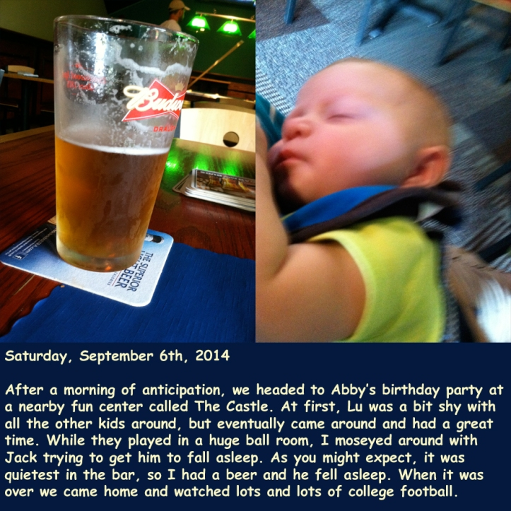 Saturday, September 6th, 2014