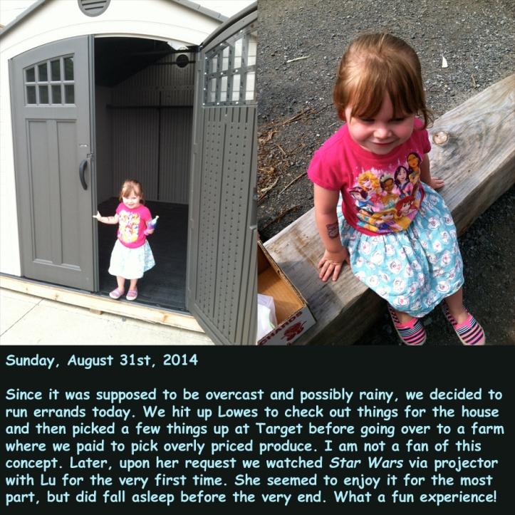 Sunday, August 31st, 2014