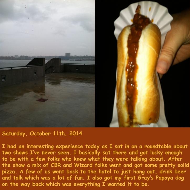 Saturday, October 11th, 2014