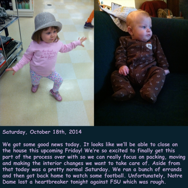 Saturday, October 18th, 2014