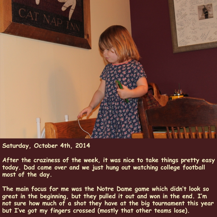 Saturday, October 4th, 2014
