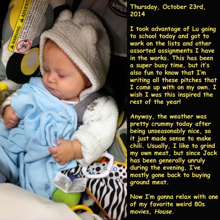 Thursday, October 23rd, 2014