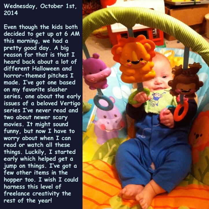 Wednesday, October 1st, 2014