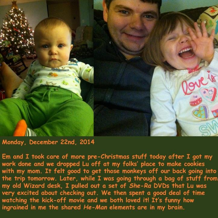 Monday, December 22nd, 2014