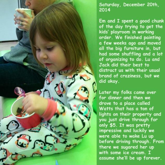 Saturday, December 20th, 2014