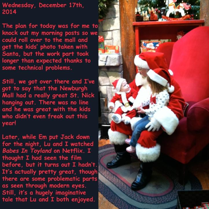 Wednesday, December 17th, 2014