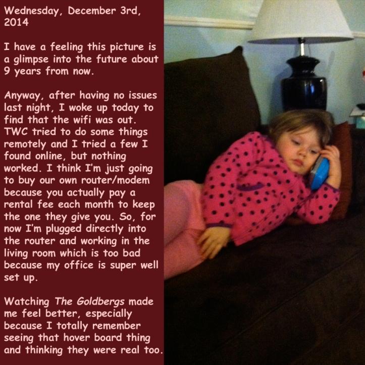 Wednesday, December 3rd, 2014