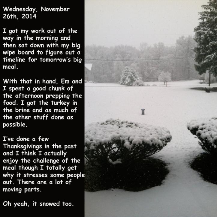 Wednesday, November 26th, 2014