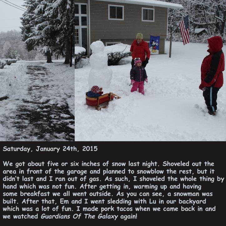 Saturday, January 24th, 2015