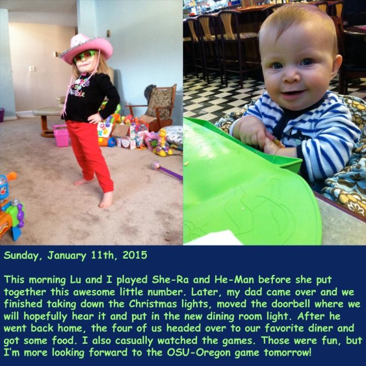 Sunday, January 11th, 2015