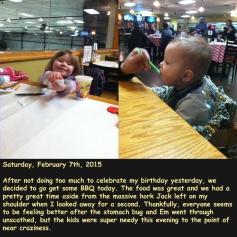 Saturday, February 7th, 2015