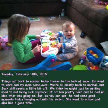 Tuesday, February 10th, 2015