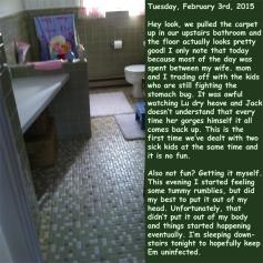 Tuesday, February 3rd, 2015