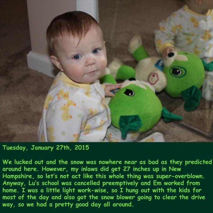 Tuesday, January 27th, 2015