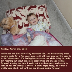 Monday, March 2nd, 2015