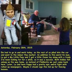 Saturday, February 28th, 2015