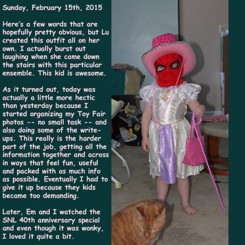 Sunday, February 15th, 2015