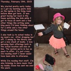 Thursday, February 19th, 2015