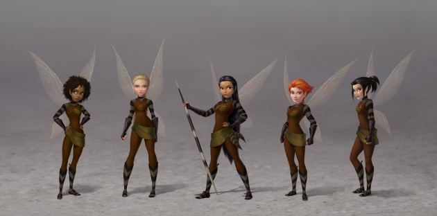 Tinker Bell and the Legend of the NeverBeaset_Scout Fairies_Lineup