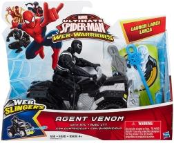 ultimate spider-man web spinners agent venom atv