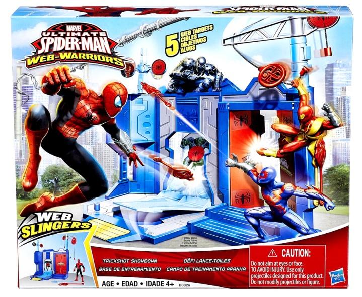 ultimate spider-man web spinners trickshot showdown