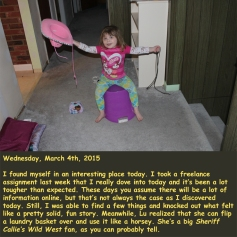 Wednesday, March 4th, 2015