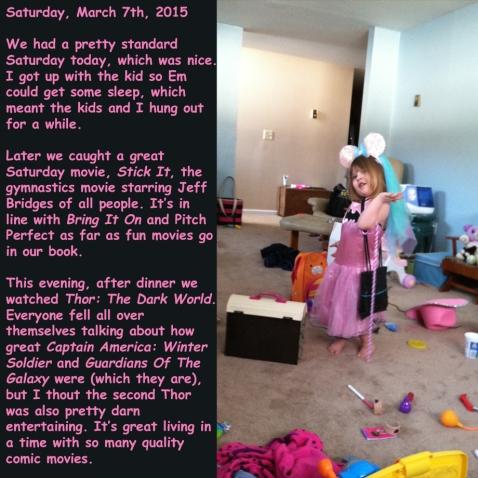 Saturday, March 7th, 2015
