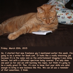 Friday, March 20th, 2015