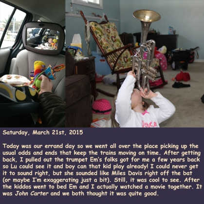 Saturday, March 21st, 2015