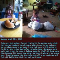 Monday, April 20th, 2015