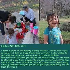 Sunday, April 12th, 2015