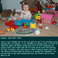 Sunday, April 26th, 2015