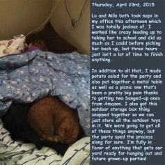 Thursday, April 23rd, 2015