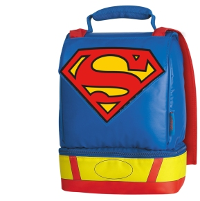 Thermos Superman Caped Insulated Dual-Compartment Lunch Kit