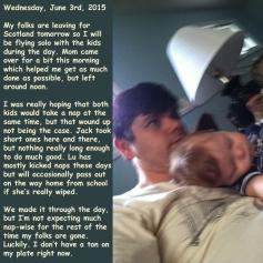 Wednesday, June 3rd, 2015