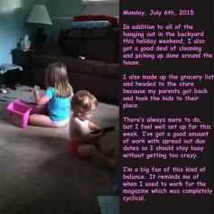 Monday, July 6th, 2015
