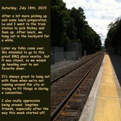 Saturday, July 18th, 2015